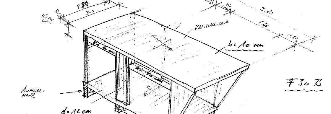 Feuerwache 3 Flughafen FFM Systemskizze Holzbau Isometrie