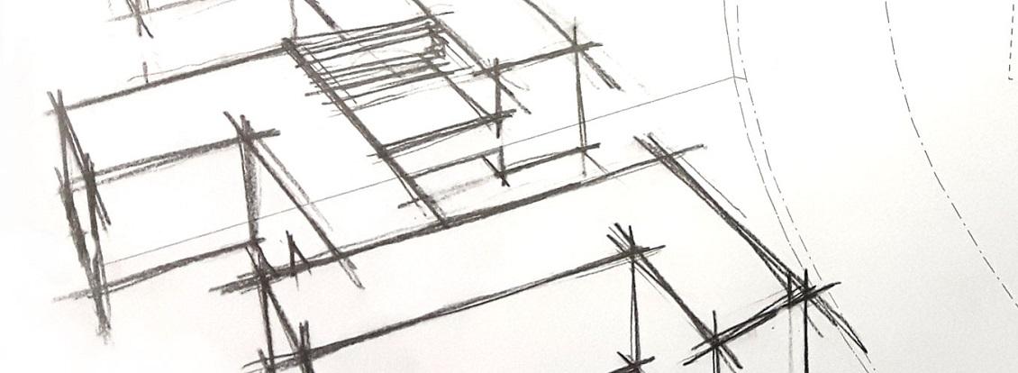 Mehrgenerationen Wohnahaus Maintal Skizze Formsprache