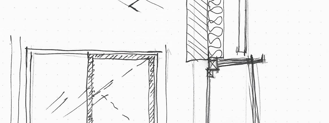 Neubau Reihenmittelhaus Skizze