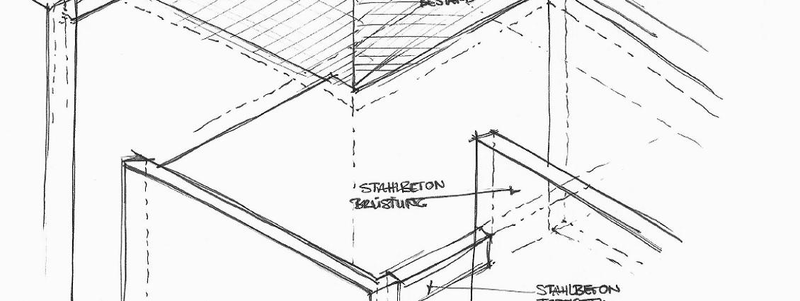 Privates Mehrgenerationenhaus Skizze
