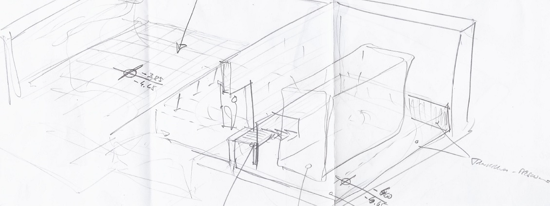 Smart Home Neubau Skizze